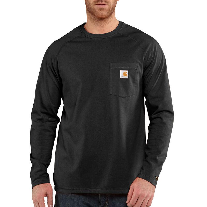 Carhartt Men's Force Cotton Delmont Long-Sleeve T-Shirt image number 1
