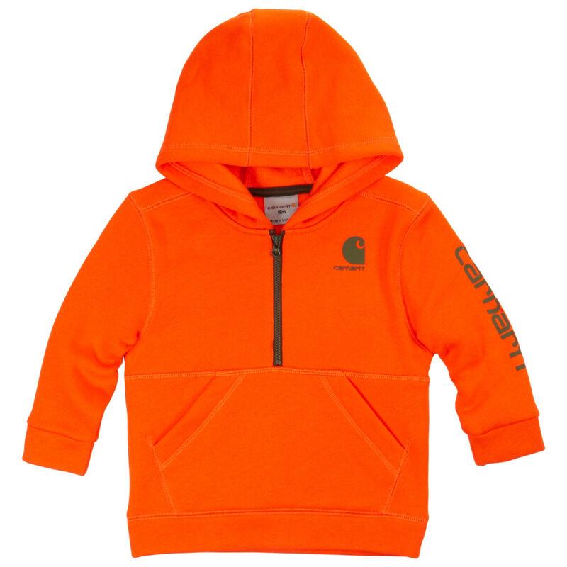 Carhartt Child's Blaze Logo Fleece Half-Zip Sweatshirt image number 1
