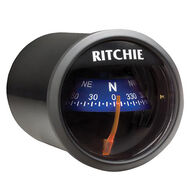RitchieSport X-21 Dash-Mount Compass, black w/violet card