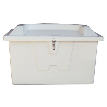 "Stow 'N Go Fiberglass Dock Box White Top Seat (27""H x 46""W x 26""D)"