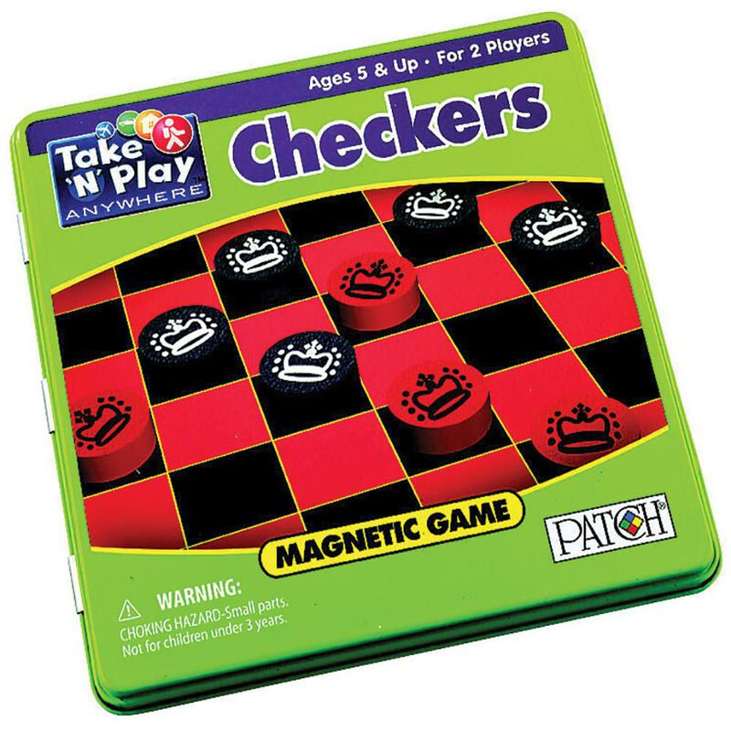 Take N' Play Anywhere Magnetic Checkers image number 1