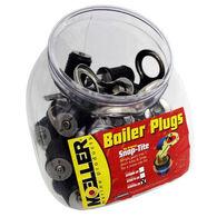 """Moeller 1"""" Stainless Steel Snap-Tite Bailer Plugs, 20-Pack (Display)"""