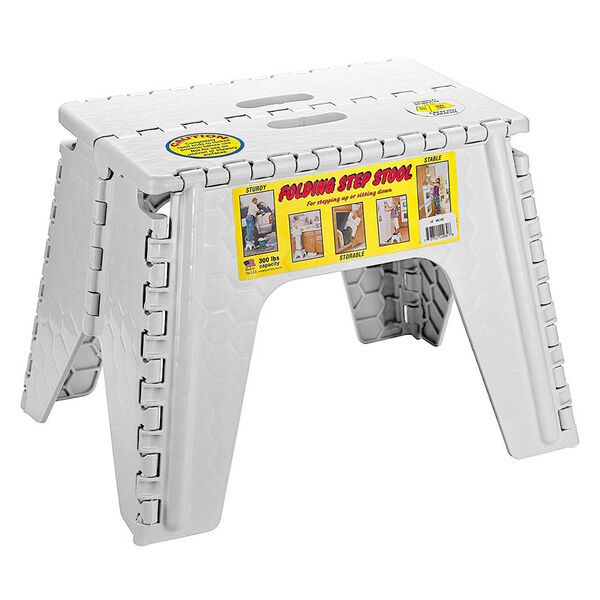 Brilliant E Z Foldz 12 Folding Step Stool White Squirreltailoven Fun Painted Chair Ideas Images Squirreltailovenorg