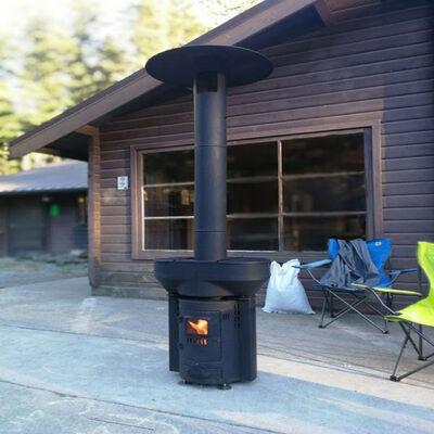 Q-Flame 106,000 BTU Wood Pellet Outdoor Heater