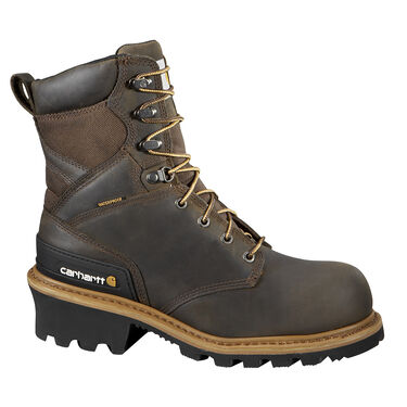 Carhartt Men's 8'' Vintage Saddle Leather Waterproof Composite Toe Logger Boot