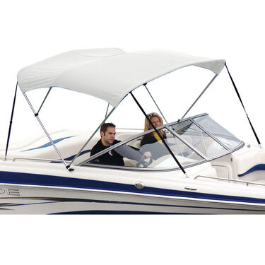 Shademate White Vinyl Stainless 3-Bow Bimini Top 6'L x 54''H 85''-90'' Wide