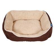 Best in Show Cuddler Dog Beds, 20'' x 16'' x 6'', Brown/Tan