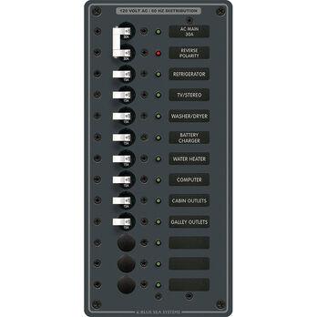 Blue Sea 120V AC Main + 11 Position Circuit Breaker Panel