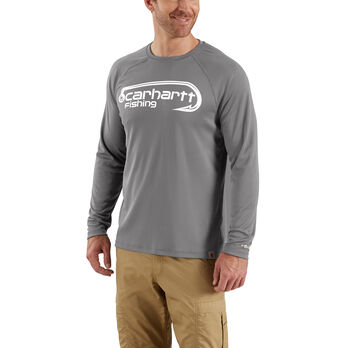 Carhartt Men's Force Fishing Hook Graphic Long-Sleeve Tee