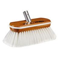 Star brite Premium Hard-Wash Brush (White) - Synthetic Wood Block with Bumper