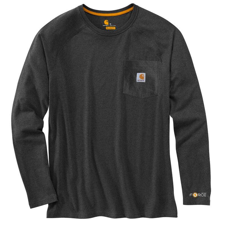 Carhartt Men's Force Cotton Delmont Long-Sleeve T-Shirt image number 12