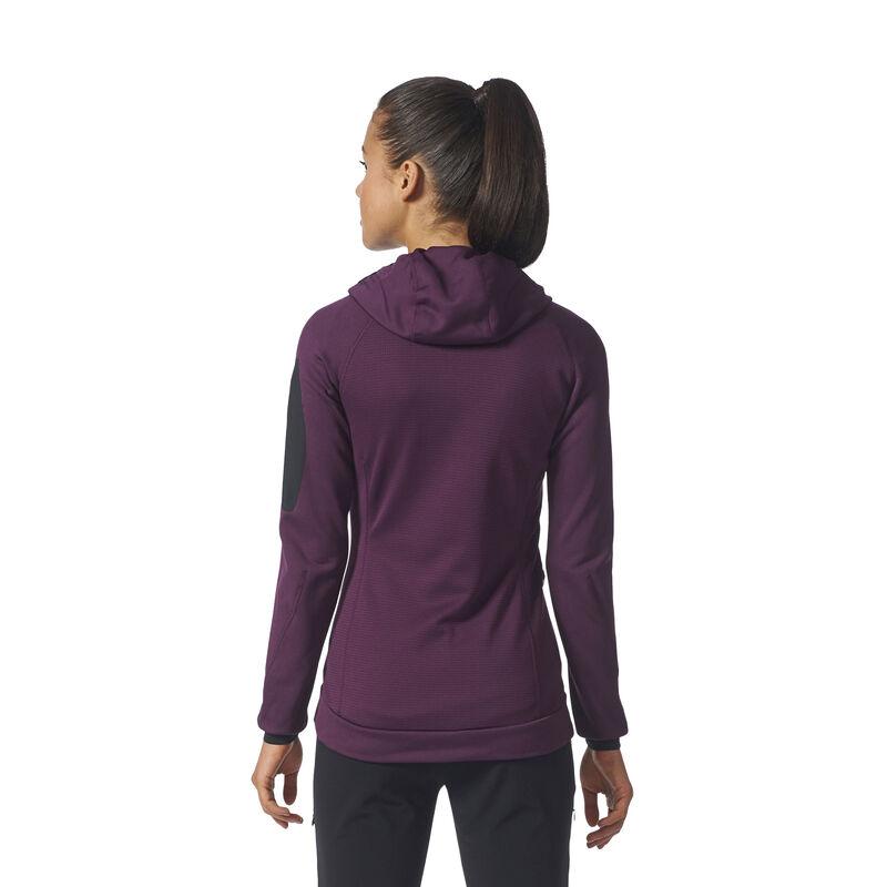 Adidas Women's Terrex Stockhorn Fleece Full-Zip Hoodie image number 9