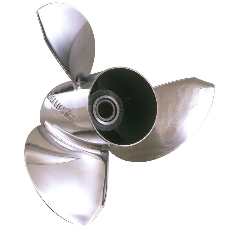 Michigan Ballistic 3-Blade Prop, Pressed Rubber Hub / SS, 12 dia x 17, RH image number 1