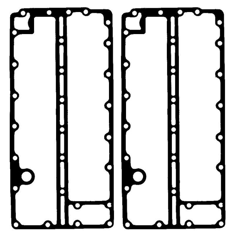 Sierra Exhaust Cover Gasket For Johnson/Evinrude Engine, Sierra Part #18-2549-9 image number 1