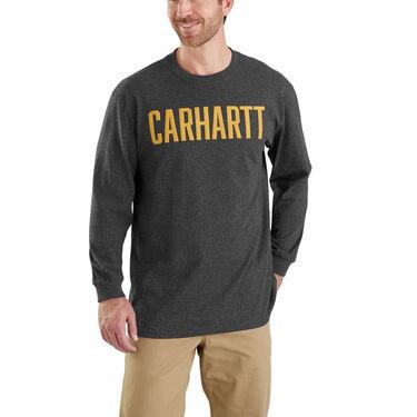 Carhartt Men's Workwear Graphic Block Logo Long-Sleeve Tee