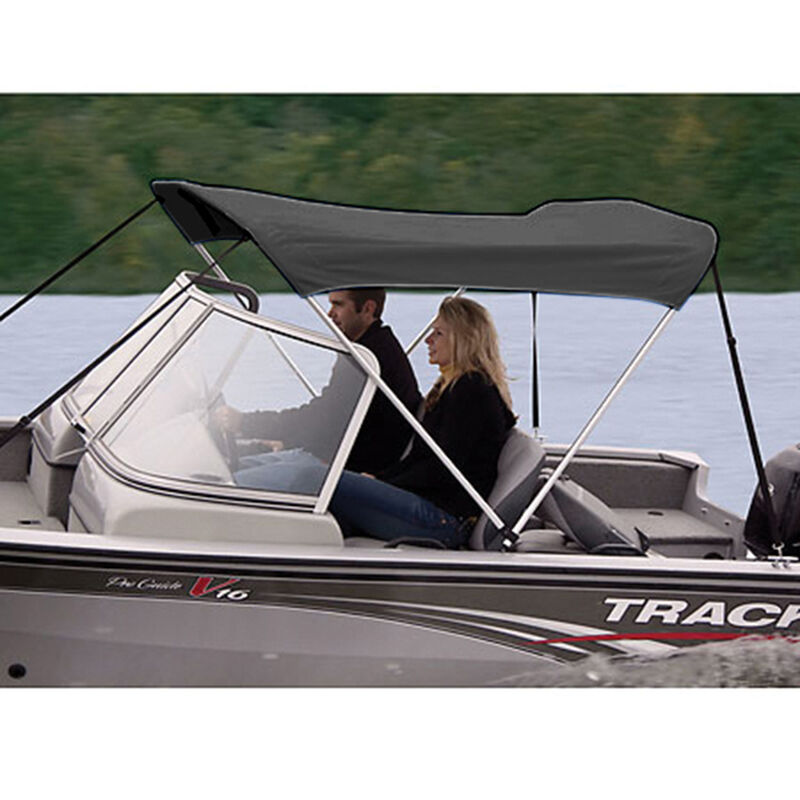 """Shademate Polyester 2-Bow Bimini Top, 5'6""""L x 42""""H, 61""""-66"""" Wide image number 6"""