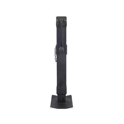 Trailer Valet Blackout 7,000 lbs Side Wind Jack, Welded Pipe Mount - 15 inch travel