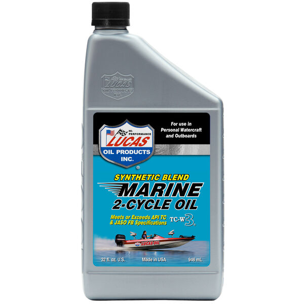 Lucas Oil Synthetic TC-W3 2-Cycle Marine Oil, Quart