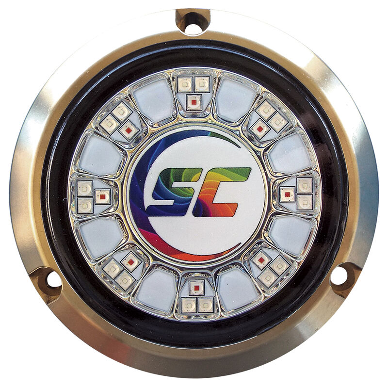 Shadow-Caster Full Color-Changing Bronze Underwater Light – 24 LEDs, RGB Multi-Color image number 1