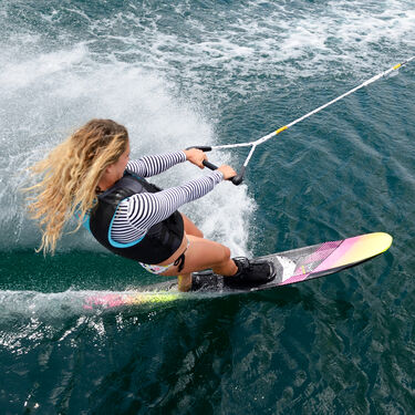 HO Women's Freeride Slalom Waterski With Free-Max Binding And Rear Toe Plate