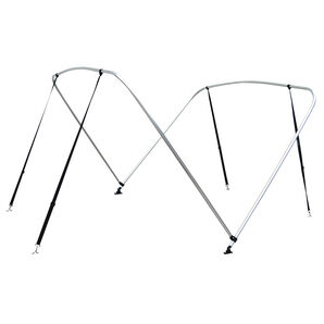 """Shademate Bimini Top 2-Bow Aluminum Frame Only, 5'6""""L x 42""""H, 67""""-72"""" Wide"""