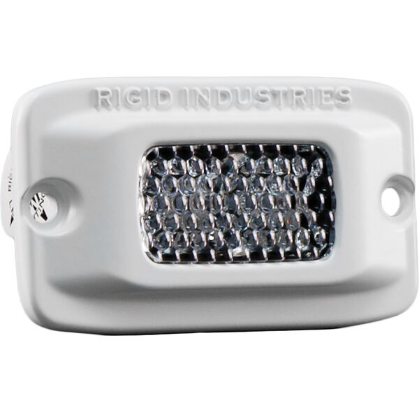 Rigid Industries Marine SR-M White LED Diffused Spreader Light, Flush-Mount