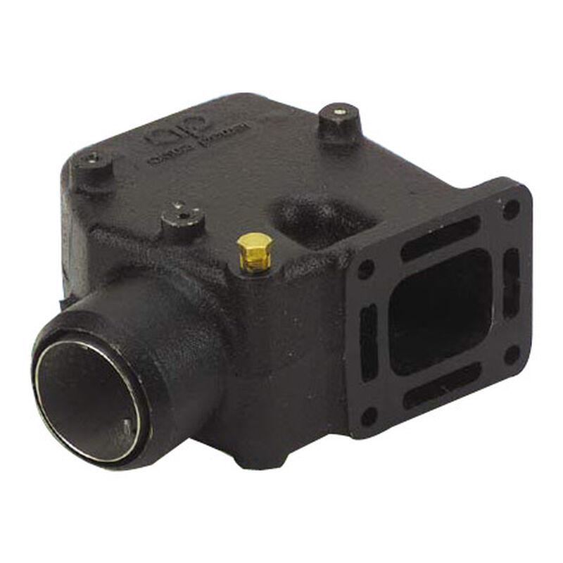 Riser Elbow 15° 3'' hose; Mercruiser V6 & V8 Manifolds With Center Risers image number 1
