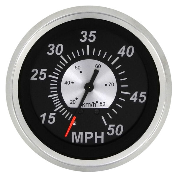 "Sierra Black Sterling 3"" Speedometer, 50 MPH"