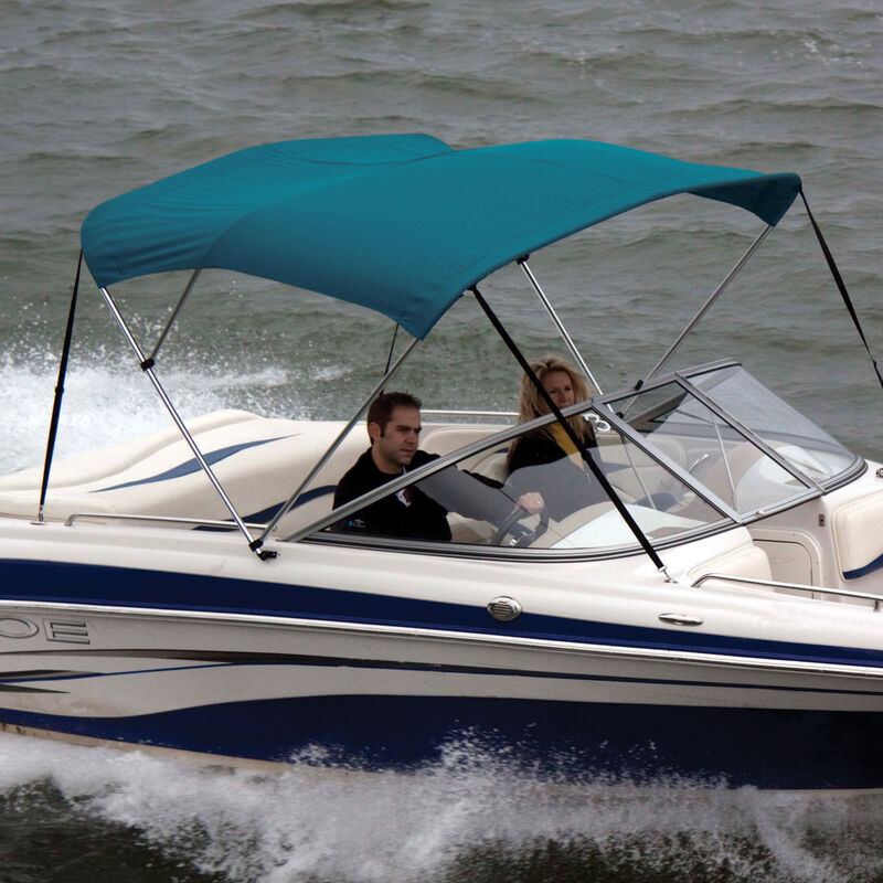 """Shademate Polyester 3-Bow Bimini Top, 5'L x 32""""H, 54""""-60"""" Wide image number 7"""