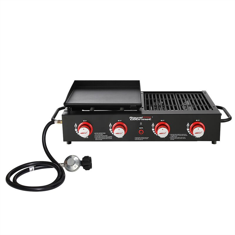 Royal Gourmet Portable 4-Burner Gas Griddle and Grill Combo image number 1