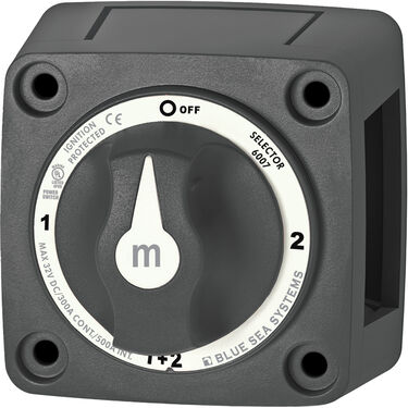 Blue Sea Systems m-Series Mini Selector Battery Switch