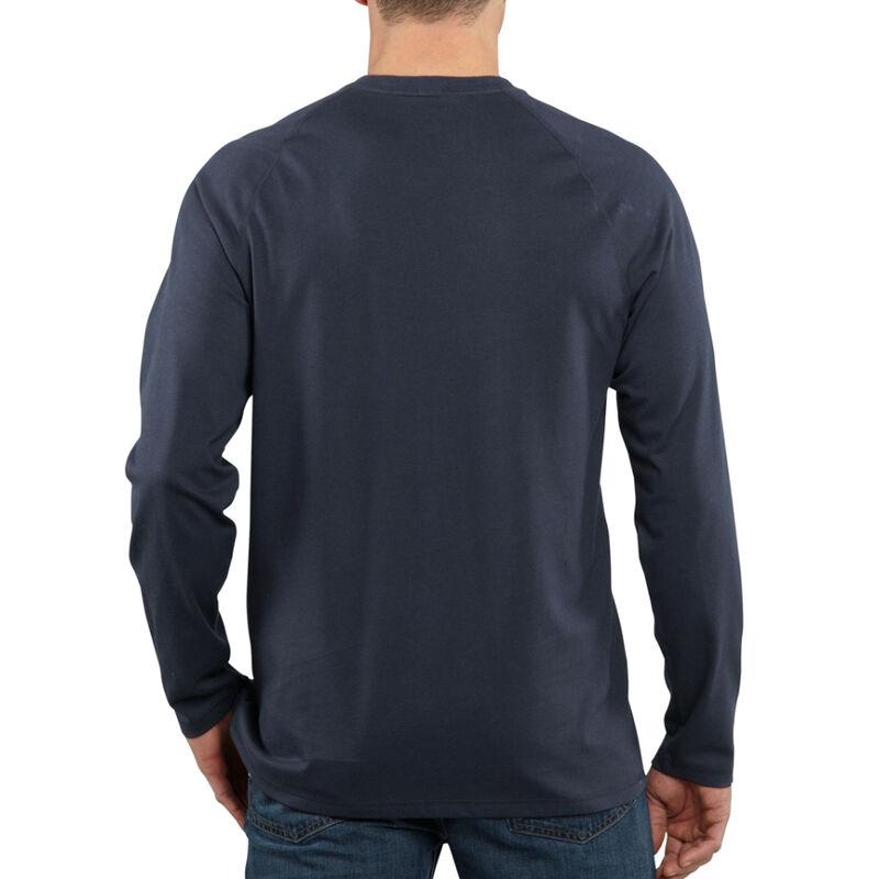Carhartt Men's Force Cotton Delmont Long-Sleeve T-Shirt image number 9