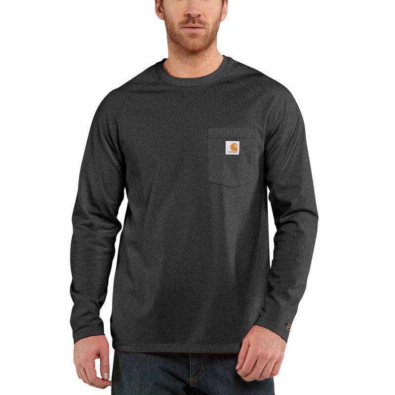 Carhartt Men's Force Cotton Delmont Long-Sleeve T-Shirt image number 4