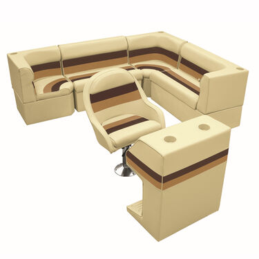 "Toonmate Deluxe Pontoon Furniture w/Classic Base - Rear Big ""L"" Package"