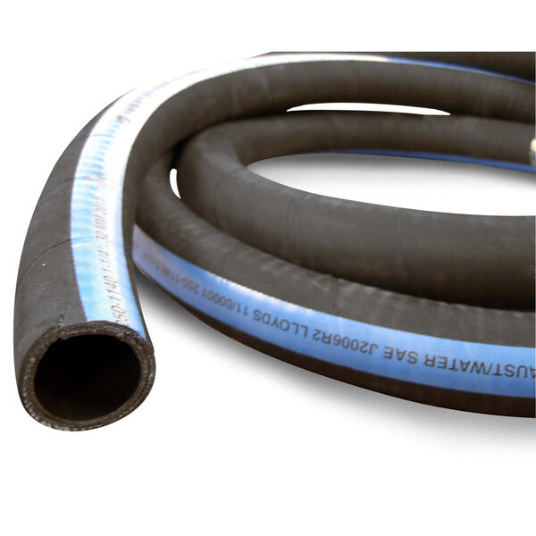 "Shields ShieldsFlex II 3-1/8"" Water/Exhaust Hose With Wire, 10'L"