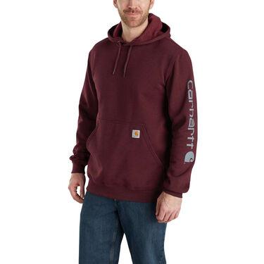 Carhartt Men's Midweight Signature Logo Hooded Sweatshirt