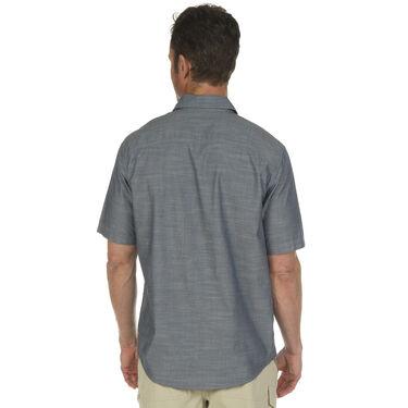 Ultimate Terrain Men's Essential Camp Chambray Short-Sleeve Shirt