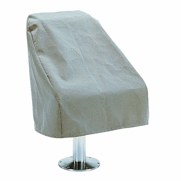 Gray Imperial Bucket-Style Pontoon Boat Captain Seat Cover