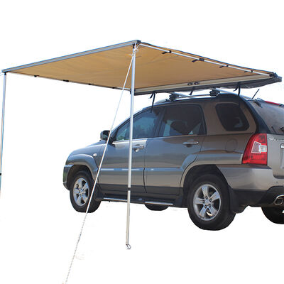 Trustmade 6.5' x 6.5' Car Rooftop Pull-Out Awning Shelter, Black