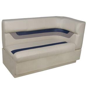 Toonmate Designer Pontoon Left-Side Corner Couch - TOP ONLY - Platinum/Midnight/Mocha