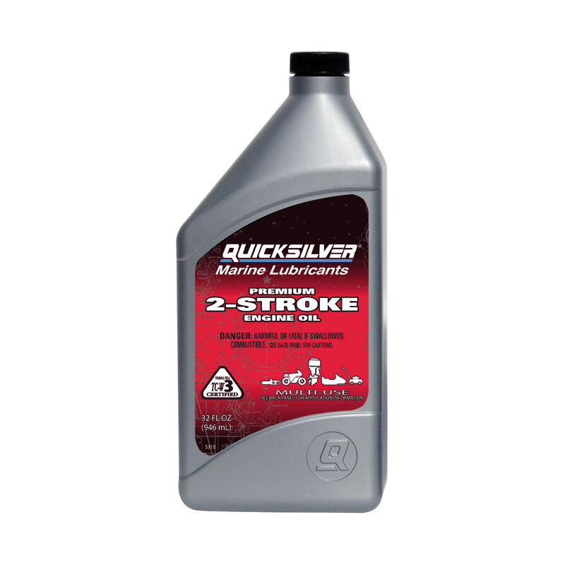 Quicksilver Premium 2-Cycle TC-W3 Outboard Oil, Liter image number 1