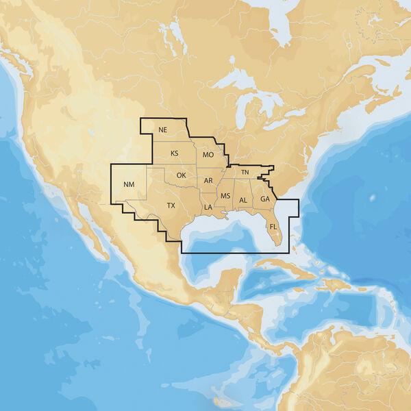Navionics+ Cartography, South Regions