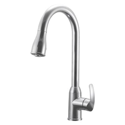 Dura Faucet Single-Handle Pull-Down RV Kitchen Faucet, Brushed Satin Nickel