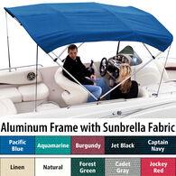 """Shademate Sunbrella 4-Bow Bimini Top, 8'L x 54""""H, 73""""-78"""" Wide"""