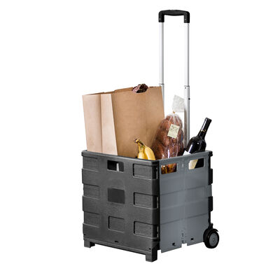 Honey Can Do Fold-Up Rolling Storage Cart with Handle