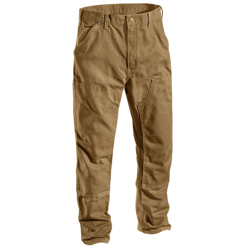 Carhartt Men's Firm Duck Double-Front Work Dungaree Pant image number 6