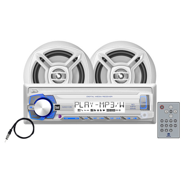 """Dual MCP103 USB/MP3/WMA Media Receiver With Two 6.5"""" Speakers"""