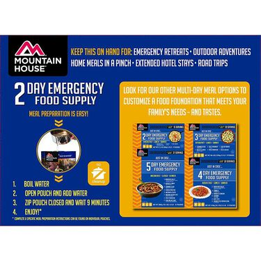 "Mountain House ""Just In Case…"" 2-Day Emergency Food Supply"