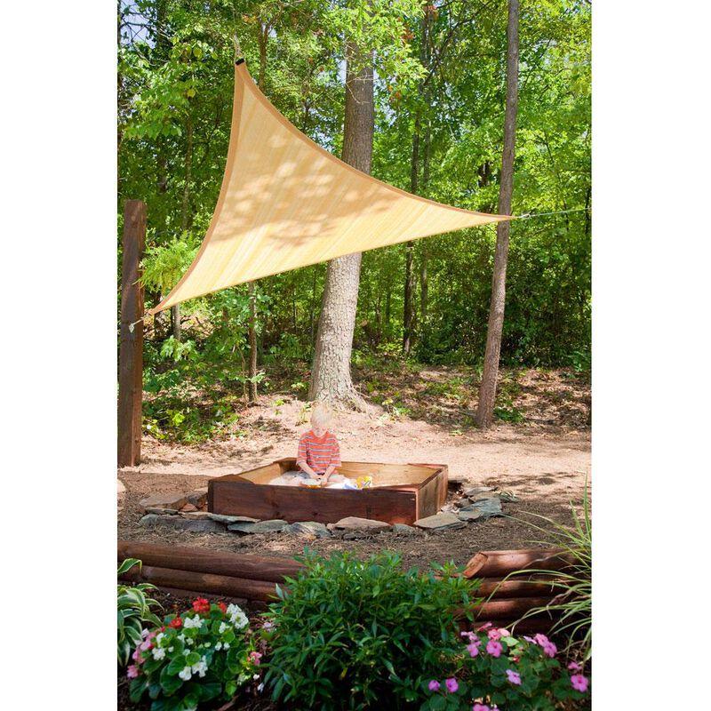 ShadeLogic Sun Shade Sail, Triangle- Sand 16' x 16' x 16' image number 3
