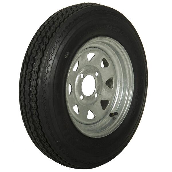 Tredit H188 5.30 x 12 Bias Trailer Tire, 4-Lug Spoke Galvanized Rim